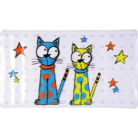 tapis antid 233 rapant transparent pour baignoire chat