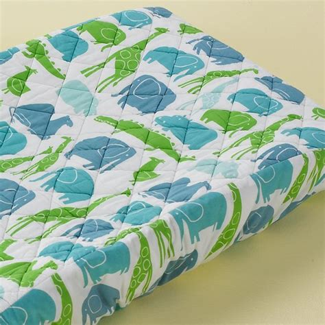 Baby Change Table Covers Baby Light Blue Zoo Pad Cover Contemporary Changing Tables By The Land Of Nod