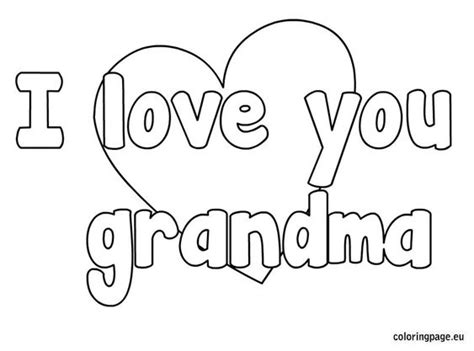 happy birthday nanny coloring pages i love you grandma coloring page pre k pinterest