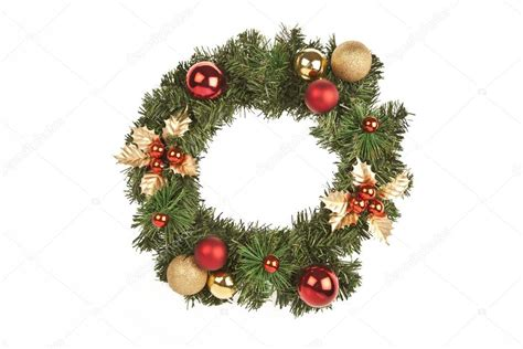 christmas circle tree decorations stock photo