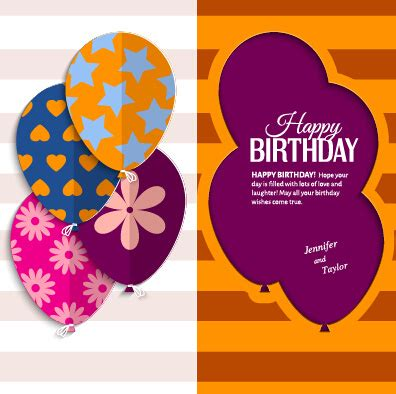 birthday card template free vector happy birthday greeting cards free vector 15 888
