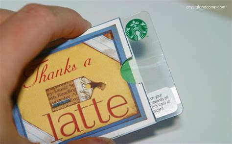 How To Fold Starbucks Gift Card Holder - teacher appreciation gifts coffee gift card holder free