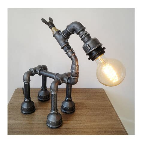 black pipe light socket robot horse l pipe l iron by