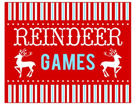 printable reindeer games free free reindeer games party printables from printabelle