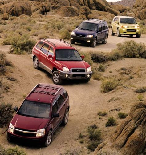 2005 Ford Escape Xlt Sport 4Wd Vs 2003 Hyundai Santa Fe