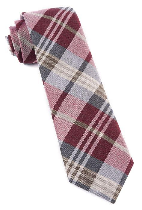 wave plaid ties burgundy ties bow ties and