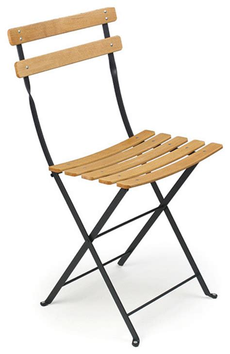 Folding Bistro Chairs Fermob Bistro Folding Chair Wood Slats Modern Living Room Chairs By Horne
