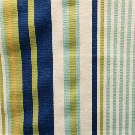 Upholstery Fabric Denver by Schooner Seaglass Blue Stripe Upholstery Fabric Sw56147
