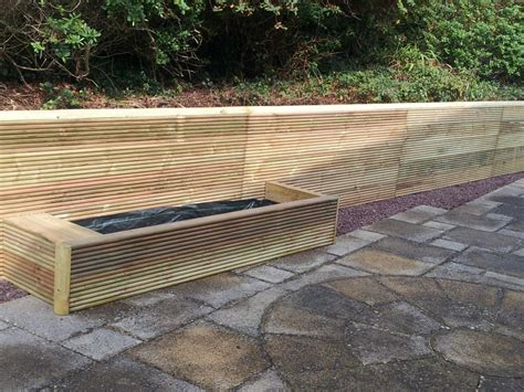 Railway Sleepers Retaining Wall by Profiled Railway Sleeper Retaining Wall