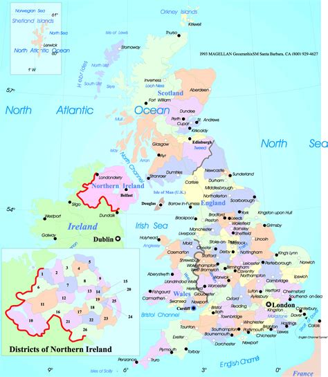 uk map map on europe area pictures map of cities
