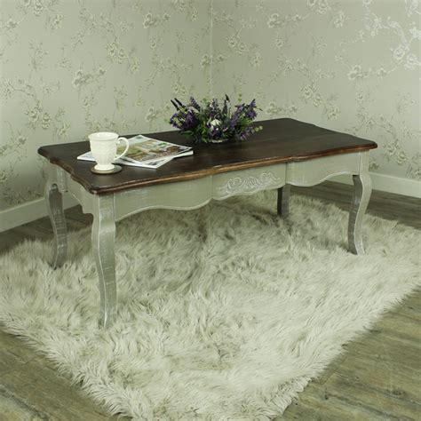 grey wood coffee table shabby vintage chic style