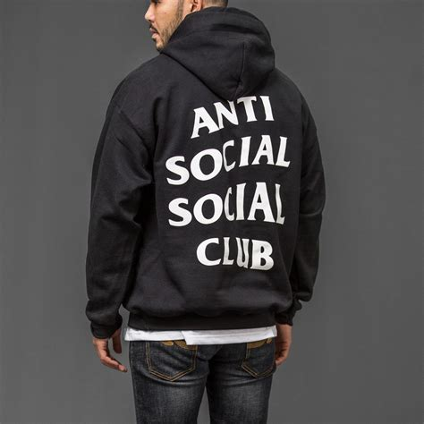 Anti Social Social Club Hoodie Jacket Assc Hoodiejacket anti social social club assc classic hoodie vip apparel shop