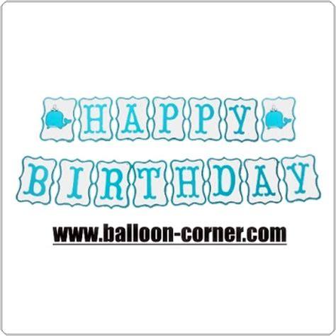 Dijamin Balon Foil Happy Birthday Set 13 Huruf By Esslshop2 bunting banner happy birthday gambar ikan paus balloon corner