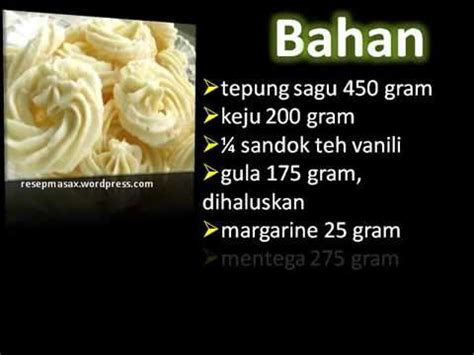 youtube membuat sagu keju resep membuat kue kering sagu keju youtube