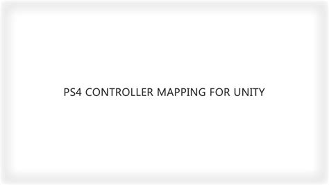 unity r layout ps4 controller mapping for unity youtube