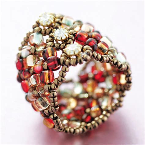 ring kits jewelry miyuki manchette seed bead ring kit