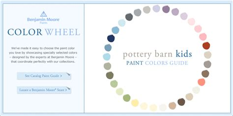 benjamin color wheel pottery barn boys room