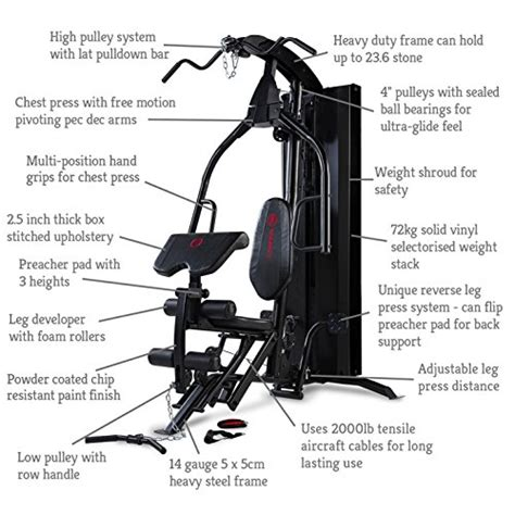 marcy eclipse hg7000 home with leg press premier