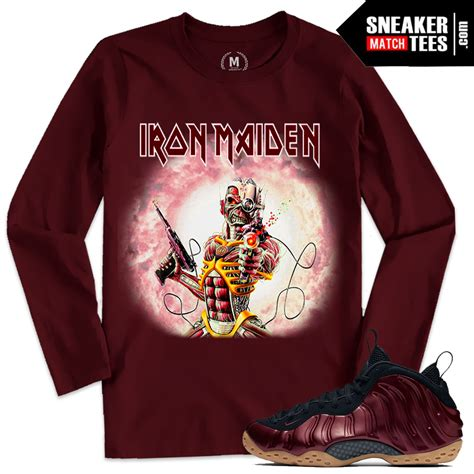 T Shirt Nike Just Fly Maroon Anime t shirts matching maroon foams iron maiden sneaker match tees