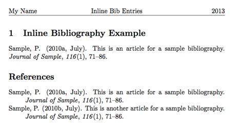tutorial latex bibliography inline apa bibliography entry in latex linguistics blog