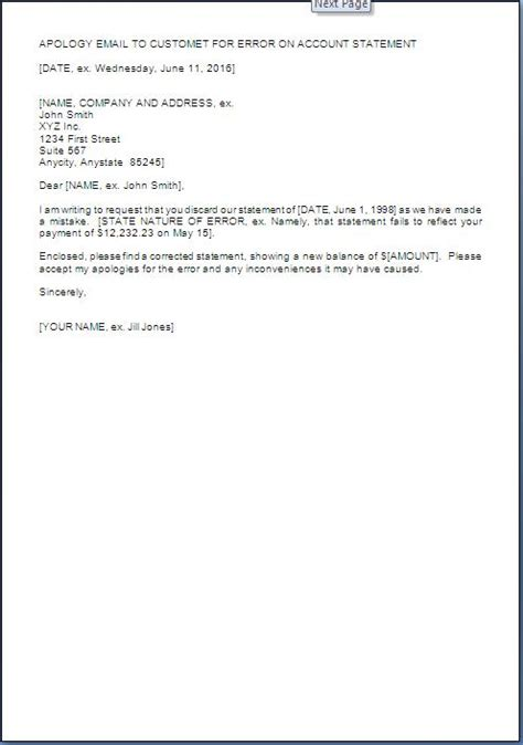 Apology Letter For Query apology letter for wrong statement