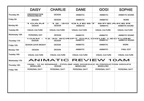 documentary production schedule template production schedule template
