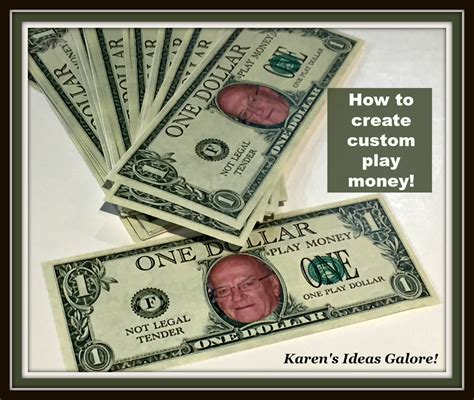 karen s ideas galore how to create custom play money