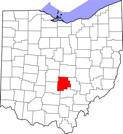 Fairfield County Search File Map Of Ohio Highlighting Fairfield County Svg