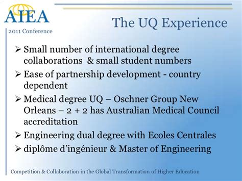 Ie International Mba Dual Degree by Aiea 2011 Presentation Joint Degrees And Offshore