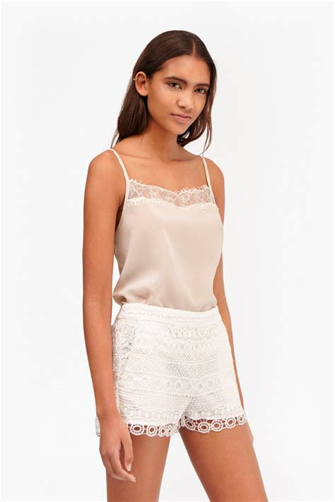 Lace Cami polly plains lace trim cami top collections