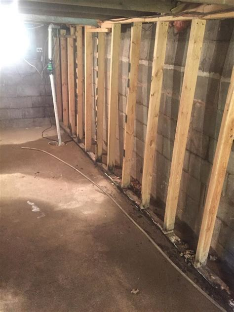 woods basement systems inc foundation repair before