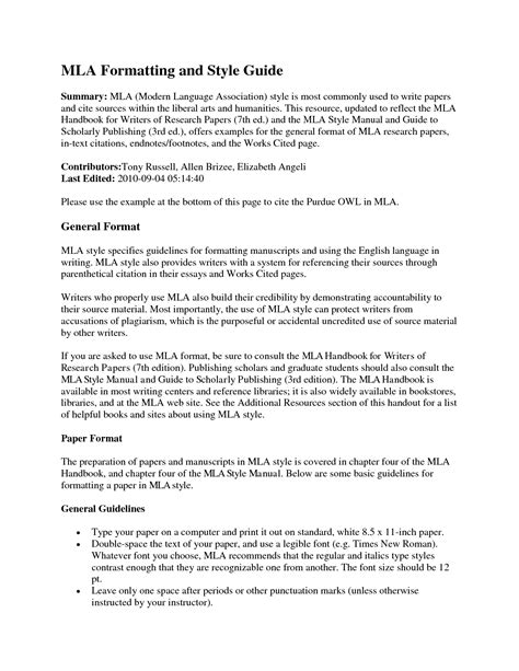 mla section headings essay paragraph headings