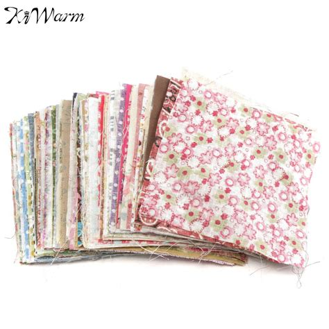 Patchwork Cloth - 100pcs mixed pattern colorful square floral