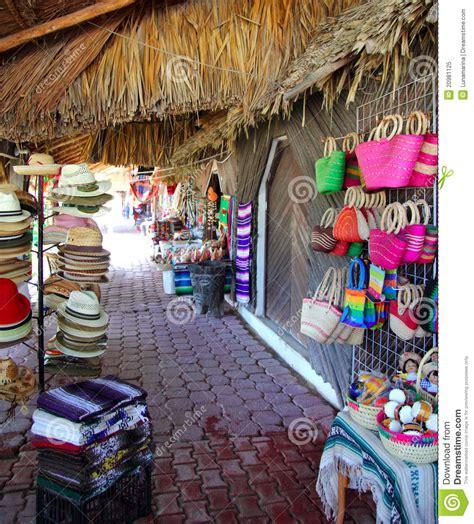 Handcrafts Unlimited - handcrafts market in mexico morelos stock image