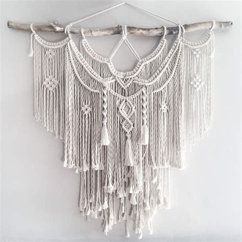 Large Macrame Wall Hanging - large 44 macrame wall hanging tapestry macrame