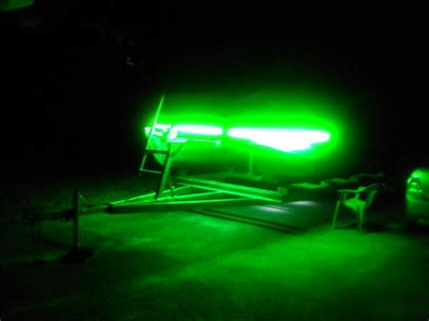 fishing lights for pontoon boats my new fish lights on my boat