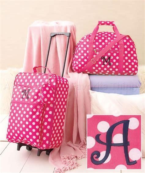 girls monogram luggage set travel rolling suitcase