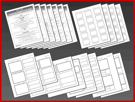 storyboard template pack and tip sheet education pinterest
