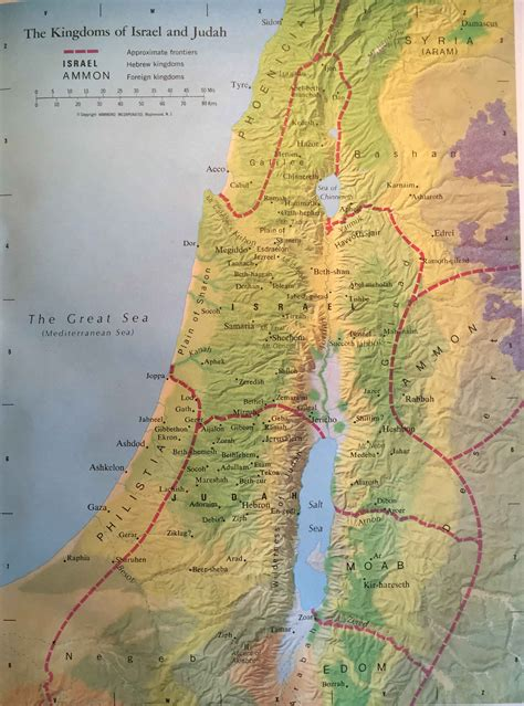biblical map of israel bible map the kingdoms of israel and judah world events