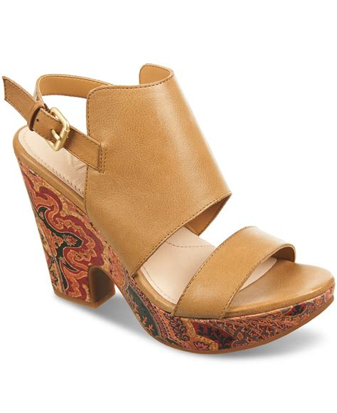 naya sandals naya platform sandals in brown lyst
