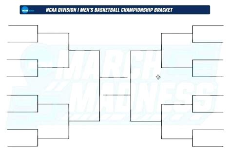 blank march madness bracket template bracket printable march madness tournament ncaa mens