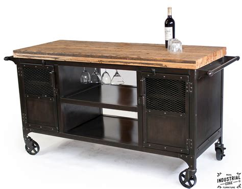 Handmade Bar - industrial mini bar reclaimed car floor top real