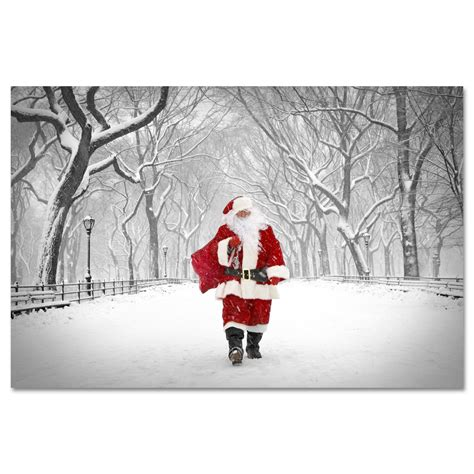 christmas in central park back drops for santa pics santa on poet walk central park new york print mp 1173 ny gifts