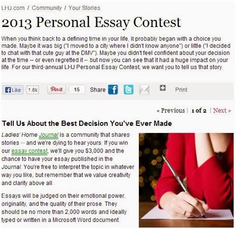Contest Essay by Bring On Lemons Home Journal Essay Contest Quot The Best Decision I Made Quot
