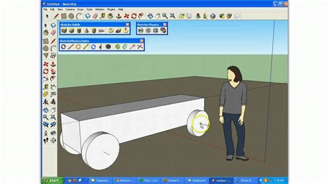 tutorial google sketchup 8 español sketchup and sketchy physics car tutorial 1 youtube