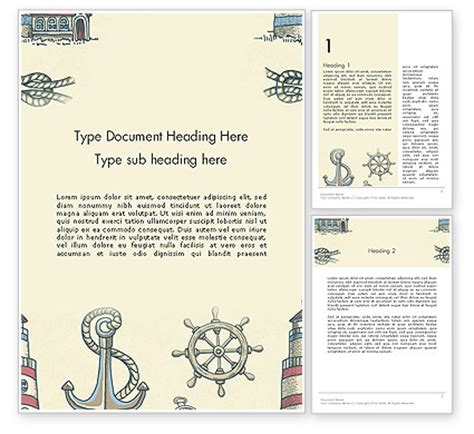 vintage templates for word nautical vintage word template 13691 poweredtemplate com