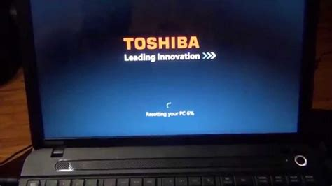 toshiba satellite factory reload restore to factory out of box state c55 a104