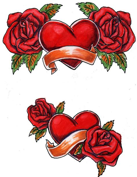 pictures of hearts and roses hearts and roses colored by biomek on deviantart