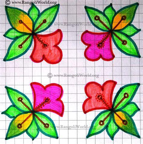 flower design pulli kolam 6to6 flower kolam jun13