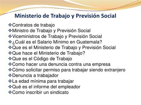 ministerio de trabajo y seguridad social salarios minimos 2016 ministerio de trabajo